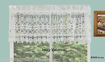 Creative Linens Knitted Lace Kitchen Curtain Valance Ivory 1PC New 3930 for sale  Walnut