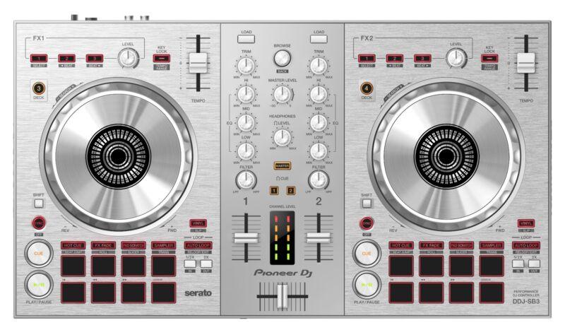 Pioneer DDJ-SB3 2 Channel DJ Controller - Pure Silver