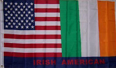 NEW 3ftx5ft USA IRELAND U.S. IRISH AMERICAN FLAG