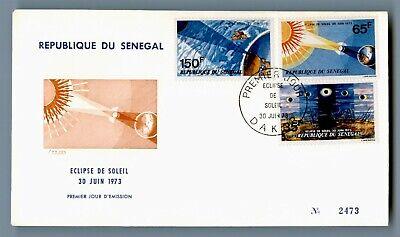 DR WHO 1973 SENEGAL FDC SOLAR ECLIPSE  C240497