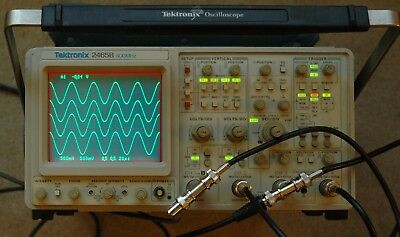 Tektronix 2465b 400 Mhz Oscilloscope Calibrated Snb061379 30 Days Warranty
