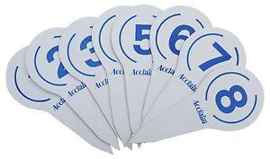 ACCLAIM-rinkmarkers-PLASTICA-BIANCA-WITH-BLUE-STAMPA-COMPLETA-Set-di-1-8