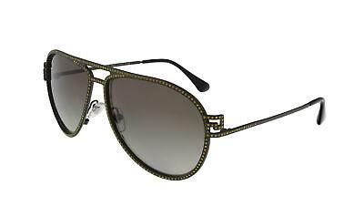 Versace VE2171B 13928E Military Green Aviator Crystal Sunglasses