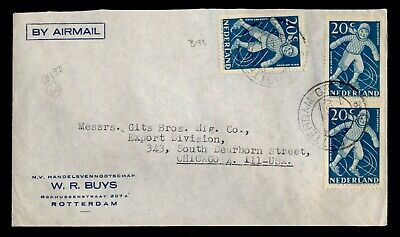 DR WHO 1948 NETHERLANDS ROTTERDAM AIRMAIL TO USA C242608