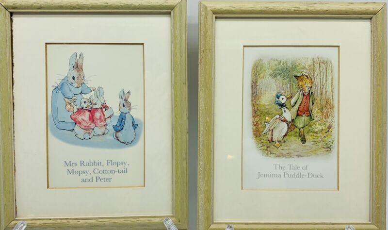 Peter Rabbit Framed  Artwork Beatrix Potter Nursery Prints Pictures Vintage Baby