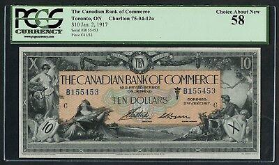Canadian Bank Of Commerce  16 02 06  10 1917 Toronto Pmg 58 Choice Au Wlm4933