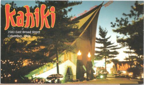 Original Vintage Kahiki Postcard Columbus Ohio Tiki
