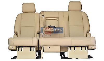 Denali 2nd Row Bench Seats - 2014 2013 2012 CAD ESCALADE OR GMC YUKON DENALI 2ND ROW BENCH SEAT TAN LEATHER.