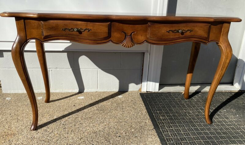 Beautiful Ethan Allen Country French Sofa Console Table 26-9301 Finish 236