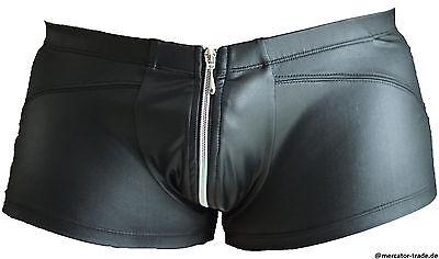 Männer Herren Pants Boxer Shorts Unterhose Wetlook Erotisch Sexy Clubwear Gr. L