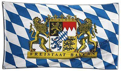 DEUTSCHLAND BAYERN FREISTAAT Hissflagge BAYERISCHE Fahnen Flaggen 90x150cm