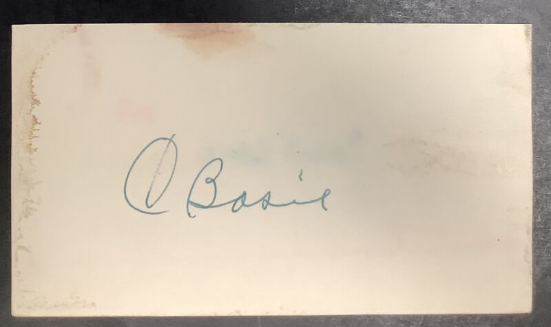 Count Basie Signed Index Card Jazz Musician Autograph Composer Song Writer JSA
