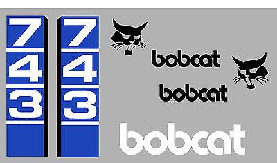Bobcat 743 Skid Steer Decal Sticker Set