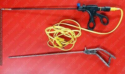 2pc Laparoscopic Storz-type Needle Holder Bipolar Forcep 5mmx330mm Instruments