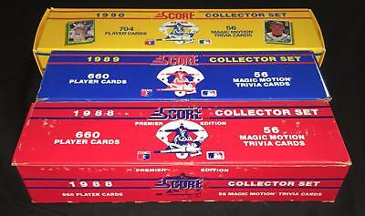 1988 1989 1990 Score Baseball Cards Complete Factory Box Set  Lot Of 3  Griffey