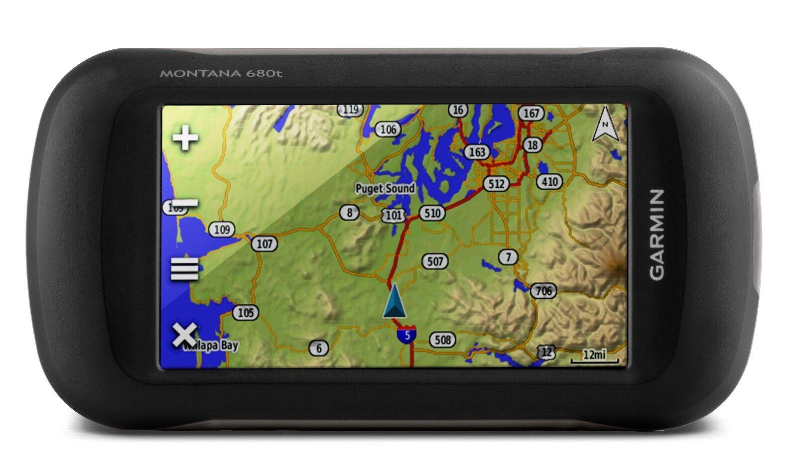 Garmin Montana 680t GPS GLONASS Handheld w/ 8 mp Camera TOPO