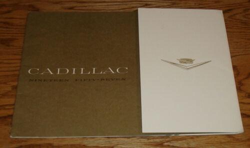Original 1957 Cadillac Full Line Deluxe Sales Brochure 57 Eldorado Fleetwood