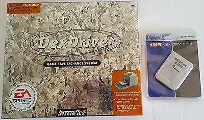 NEW Memory Card & DexDrive to PC Game Save Exchange Transfer for Playstation 1