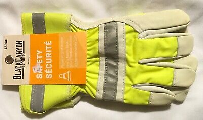New Black Canyon Outfitters Safety Goat Leather Gloves Sz Large