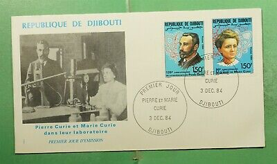 DR WHO 1984 DJIBOUTI FDC MARIE CURIE CACHET COMBO  g14155