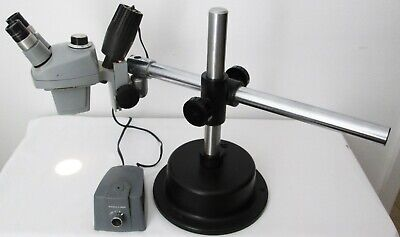 Bausch Lomb .7x - 3x Stereo Zoom Microscope 10x Eyepieces Light - Boom Stand