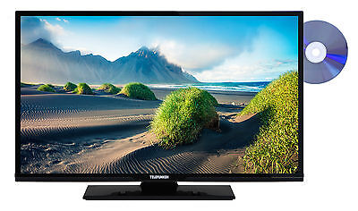 Telefunken XF32D101D 32 Zoll Fernseher mit DVD-Player Full HD TV Triple-Tuner