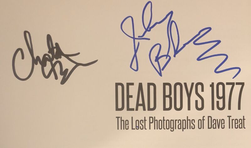 Dead Boys Signed Autographed Rare Lost Photos Book Cheetah Chrome Johnny Blitz