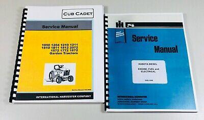 Cub Cadet 1572 1772 Lawn Garden Tractor Service Repair Manual Kubota Diesel Set