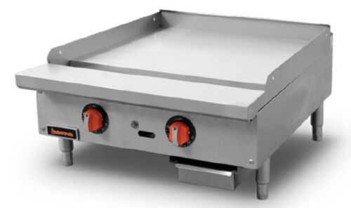 """Sierra Srtg-24 Thermostatic Griddle Natural Gas Countertop 24""""w 2x Burners"""