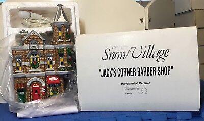 Dept 56 Jack's Corner Barber Shop 54062 NEW