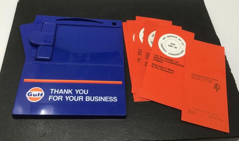 NOS Gulf Gas Oil Service Station Plastic Credit Card/ Receipt Holder & Pamphlets