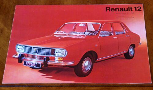 Renault 12 brochure Prospekt, 1970 (German text)