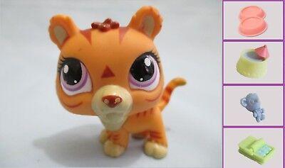Littlest Pet Shop Tiger Jaguar Saber Tooth Lion 3593 Free Accessory Authentic  ()