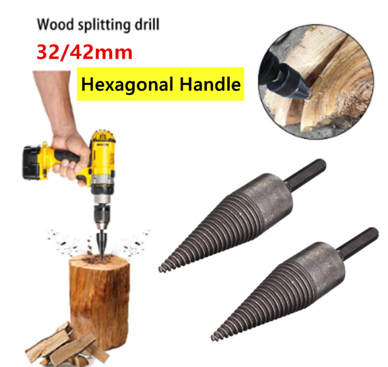 Firewood Splitter Machine Wood Cone Punch Driver Drill Bit T