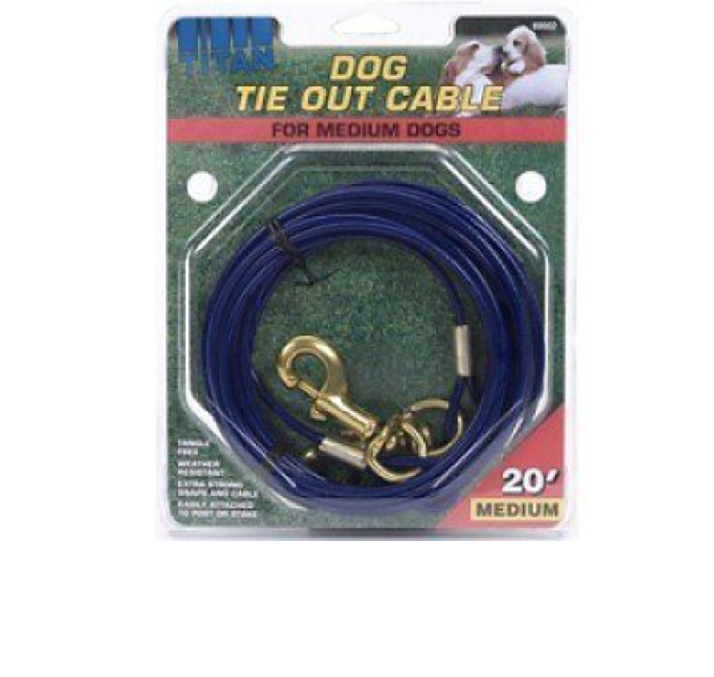20' Tie Out Cable Medium Dog Cable Tie Out Titan Tie Out Wea