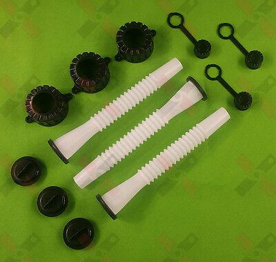3 Replacement Spout Parts Kit For Rubbermaid Kolpin Gott Lawnmower Parts