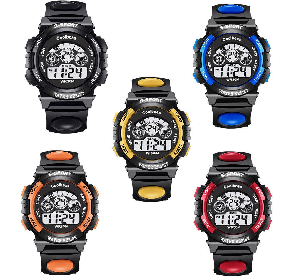 Coolboss Armbanduhr Kinder Sport Digitaluhr für Jungen & Mädchen