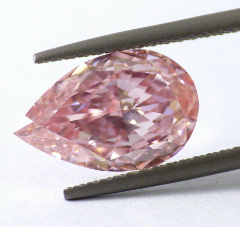 2.04 carat Fancy Intense Pink VVS2 Loose Natural Diamond Pear Cut GIA Certified