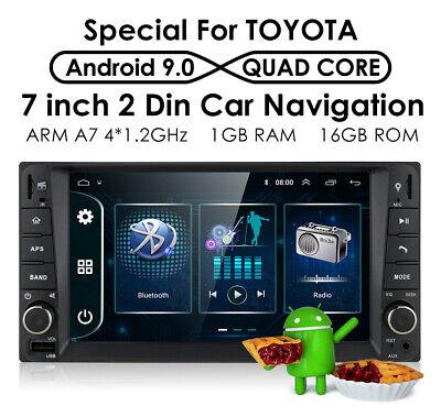 "7"" Android 9.0 GPS BT USB Car Radio Player For Camry TOYOTA RAV4 Corolla Tundra"