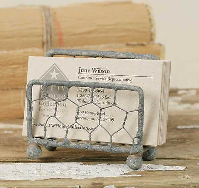 Chicken Wire Business Card Holder - New - 810874t