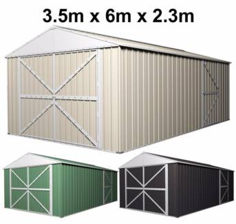 garden shed garage workshop 35m x 6m x 23m extra high pa door