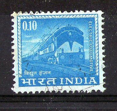 INDIA 1965 0.10 ELECTRIC LOCOMOTIVE COMMEMORATIVE STAMP SG 509 VFU (a)
