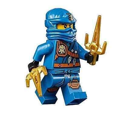 LEGO NINJAGO 70749 Jay - Knee Pads Minifigure NINJA With 2 GOLD Weapon New D37