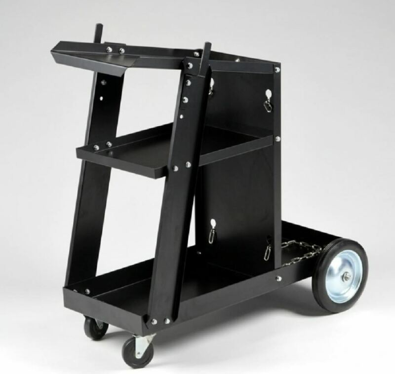 MIG TIG ARC Welder Welding Cart Universal Storage for Tanks & Accessories Wheels