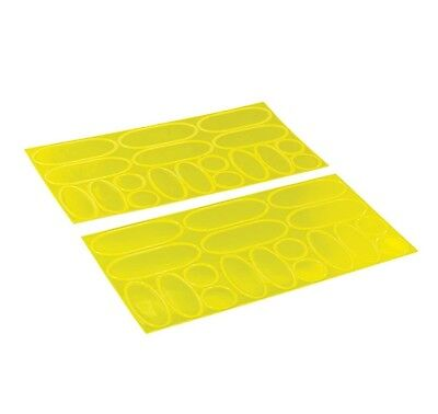 Hi-Vis Reflective Stickers. Sheet of 18 stickers