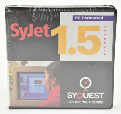 SyQuest Syjet 1.5GB NOS Sealed Media Storage PC Formatted Disc