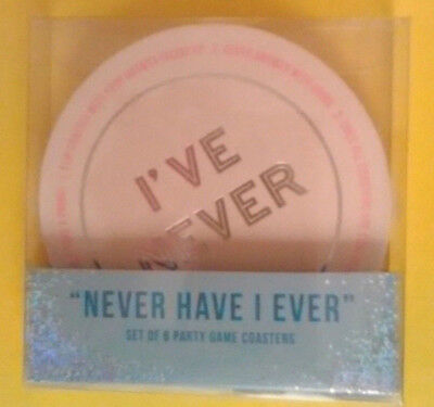 Party Game Bachelorette Summer Fun Novelty Drink Coasters set of 6](Bachelorette Drinking Game)