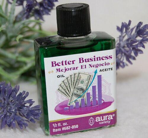 Better Business Oil (1) 4DRMs, Success, Abundance, Wealth, Santeria, Hoodoo,
