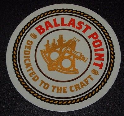 BALLAST POINT BREWING COMPANY Logo STICKER decal craft beer brewery
