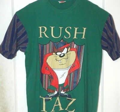 Vtg TAZ RUSH T SHIRT Rare 90's Looney Tunes Tee COLLEGE FRATERNITY Frat (Fraternity Rush Shirt)